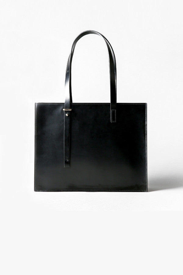 Hard Leather Tote Bag