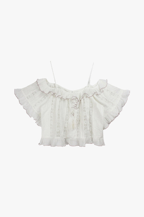 White Cotton Peasant Blouse