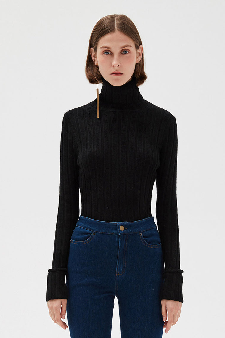 Fitted Turtleneck Shirt