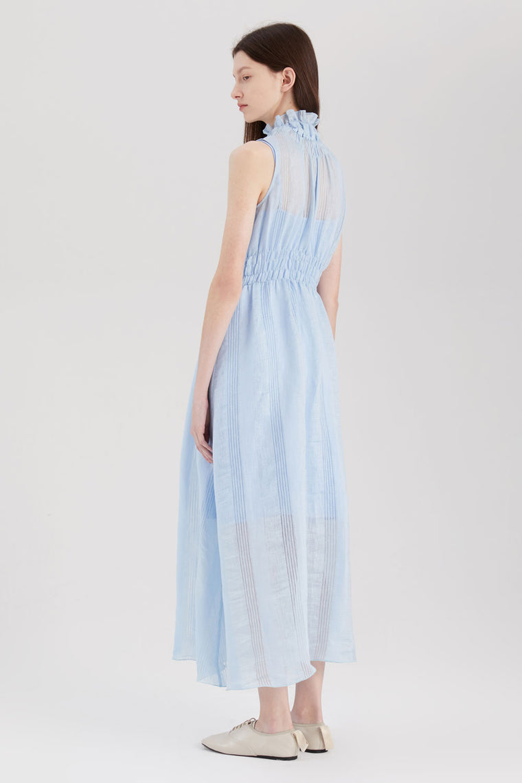 Linen Rayon Sheer Dress