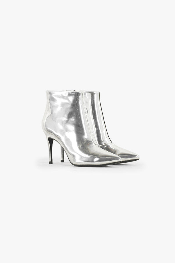 High Heel Metallic Boots