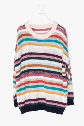 Oversized Loose Striped Sweater