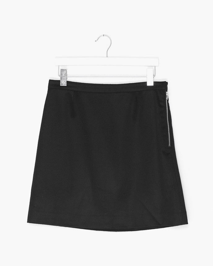 Cashmere Wool Mixed Mini Skirt