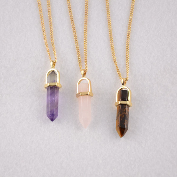 Floating Crystal Chain Pendant Necklace