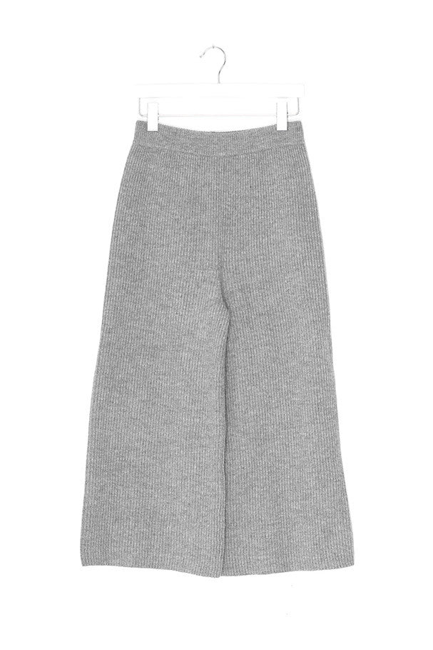 Merino Wool Wide Leg Pants
