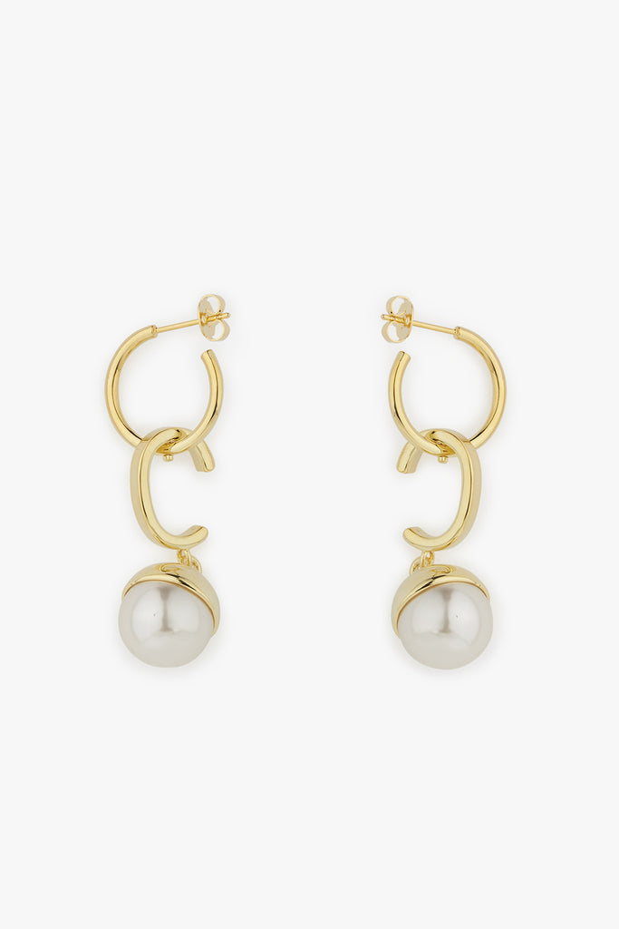 Hoop Drops and Pearl Earrings
