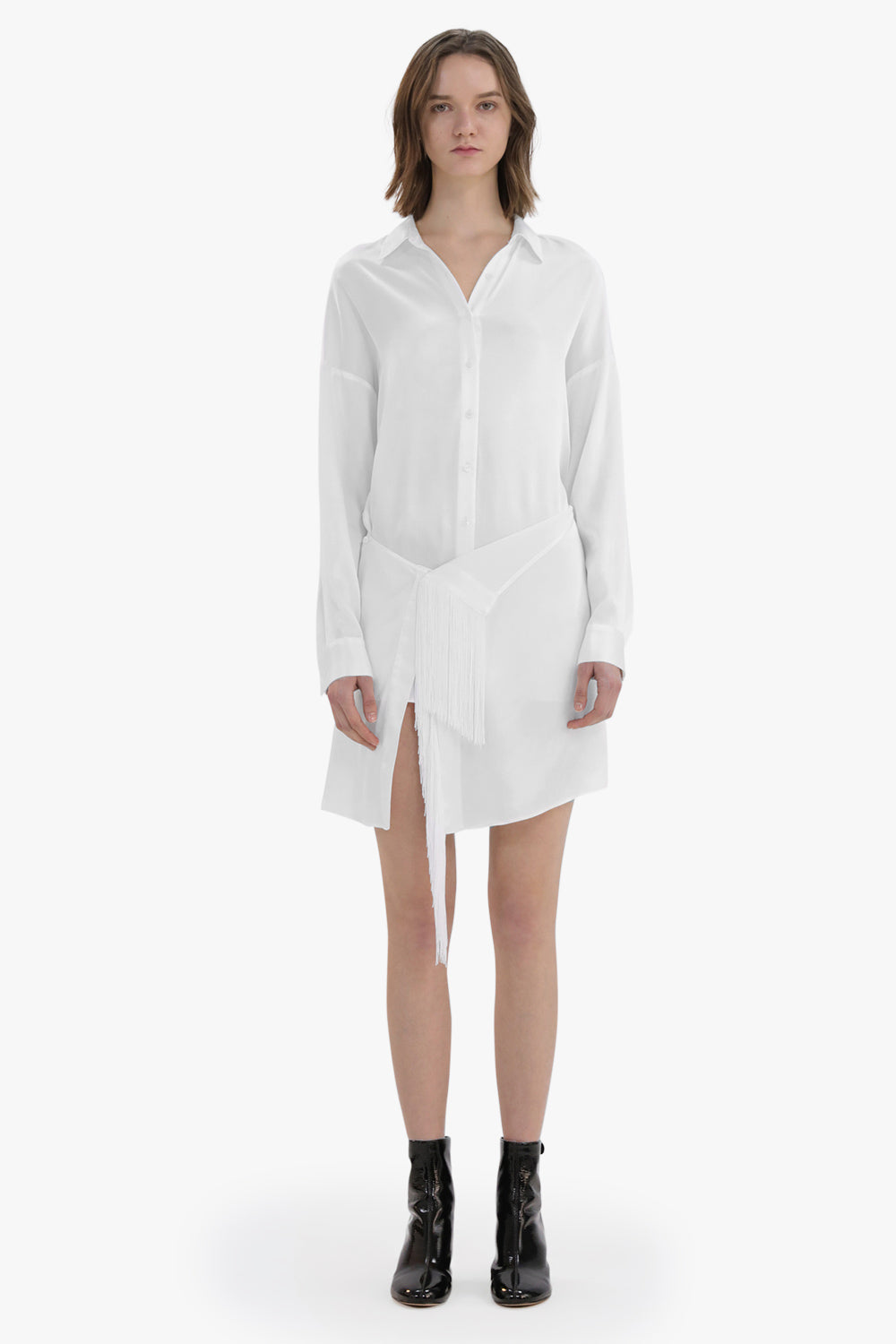Long Deconstructed Shirt Dress