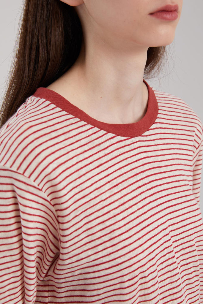 Striped Linen Cotton T-Shirt