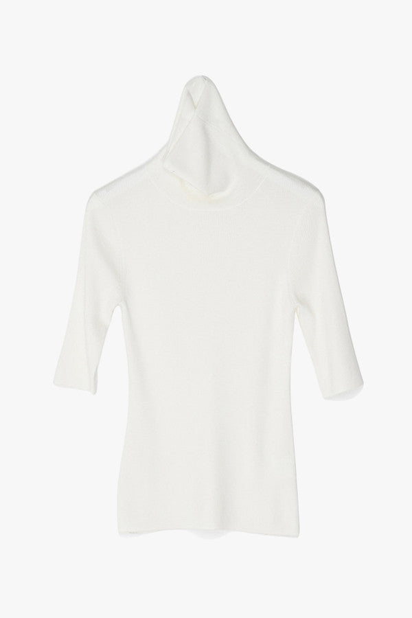 Merino Wool Short-Sleeved Top