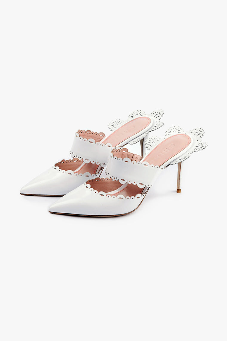 Pointed Toe Lacey Mules
