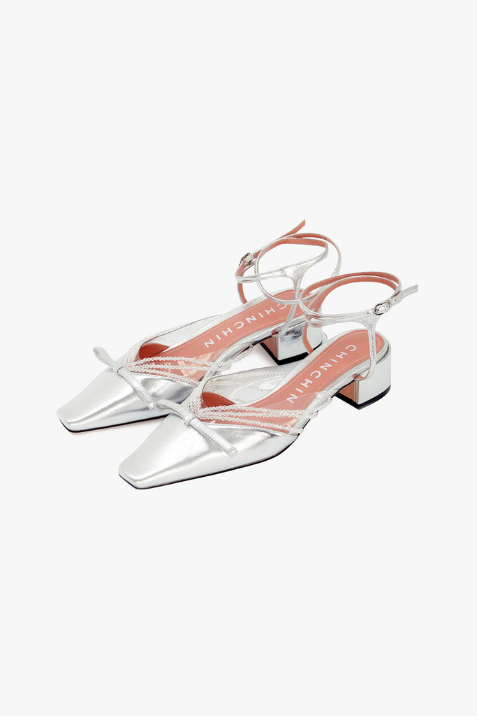 Crystal Chain PVC Leather Sandals