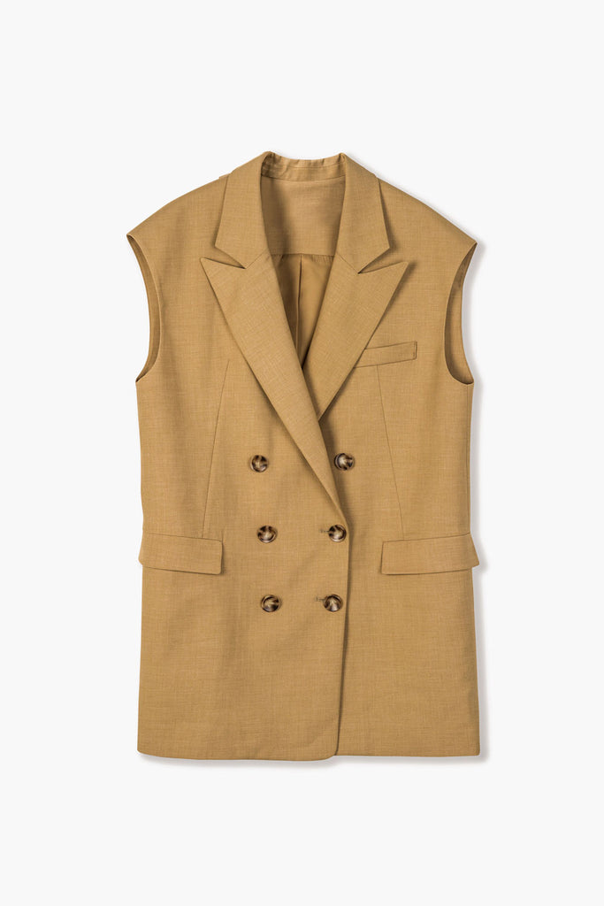Double Breasted Sleeveless Vest
