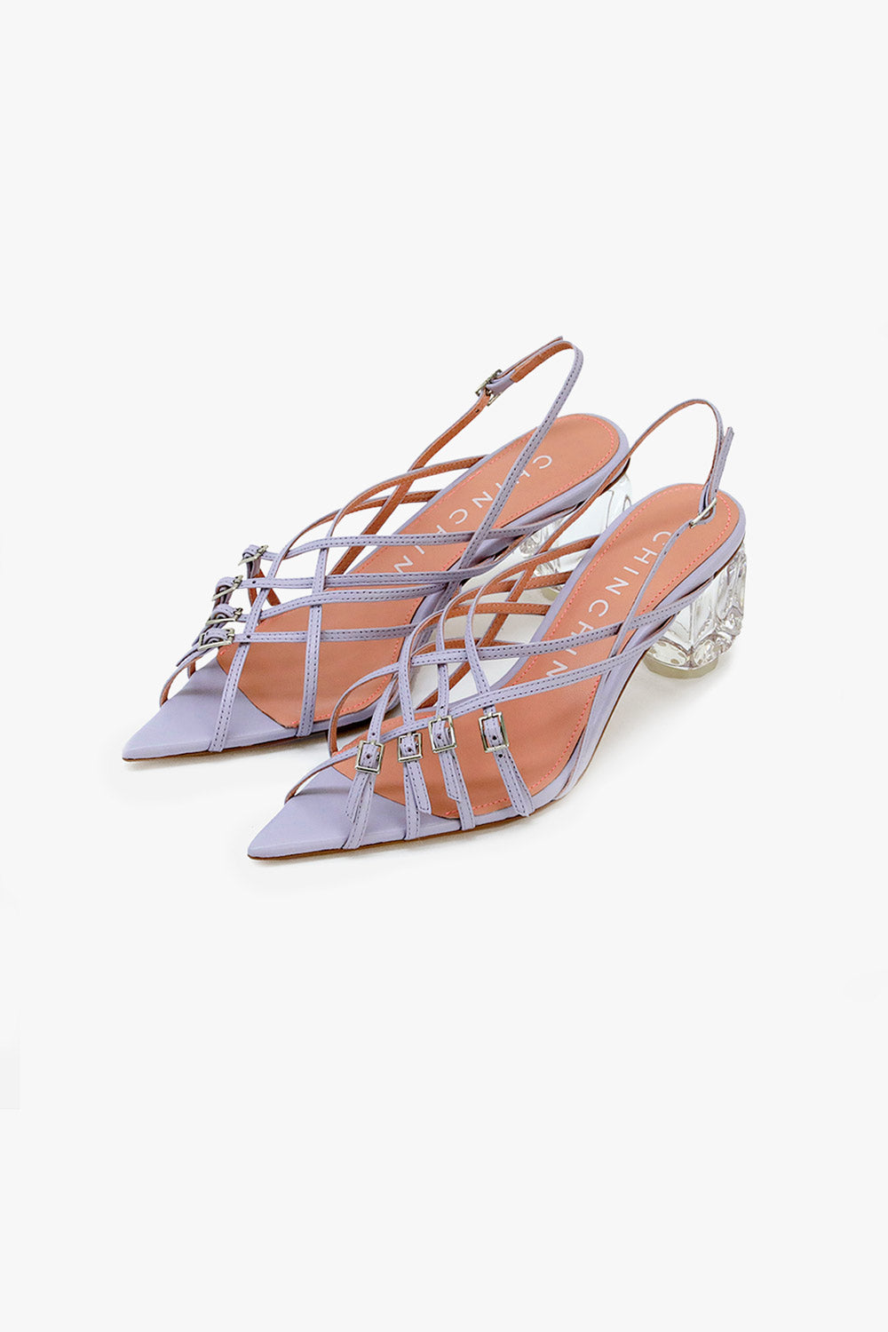 Strappy Crystal Heel Sandals