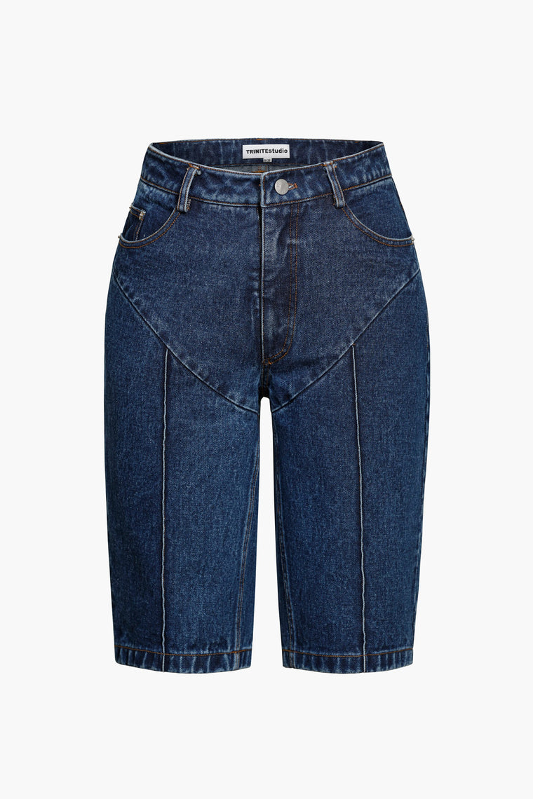 High-Rise Straight Short Jeans