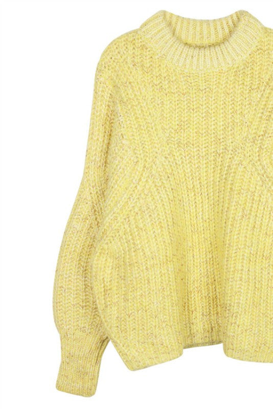Crop Oversized Knit Sweater