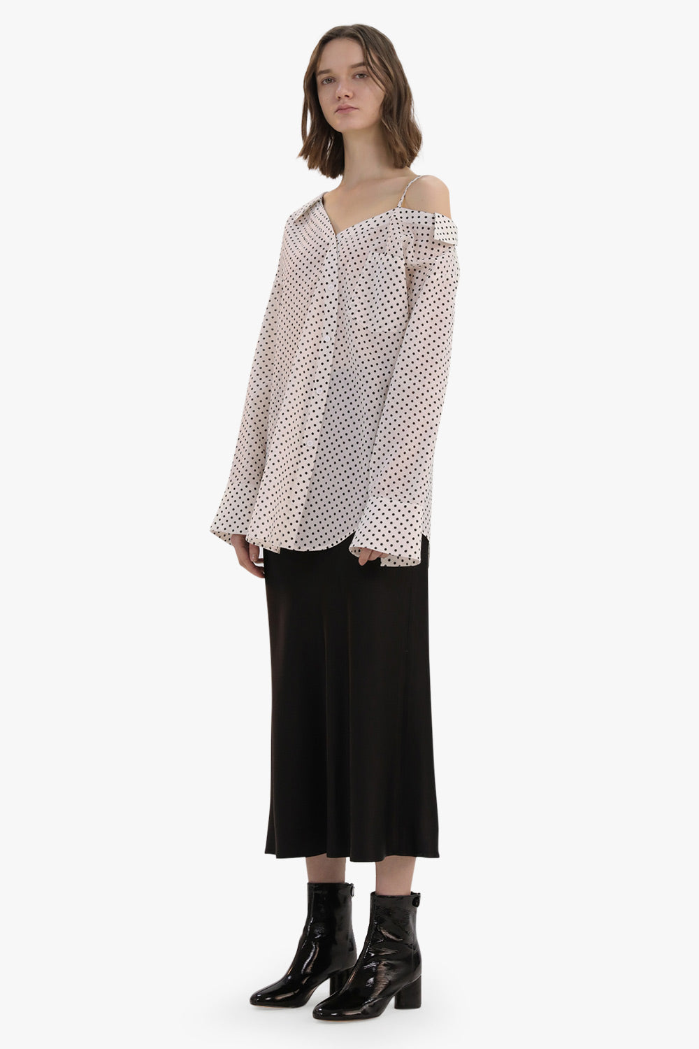 Polka Dots Off-Shoulder Shirt