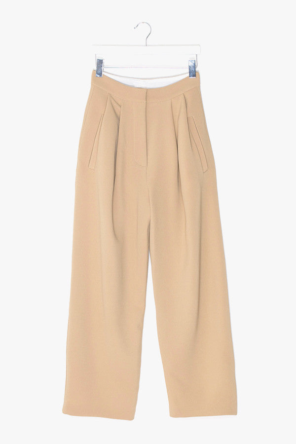 Wool and Cotton Wide Leg Pant