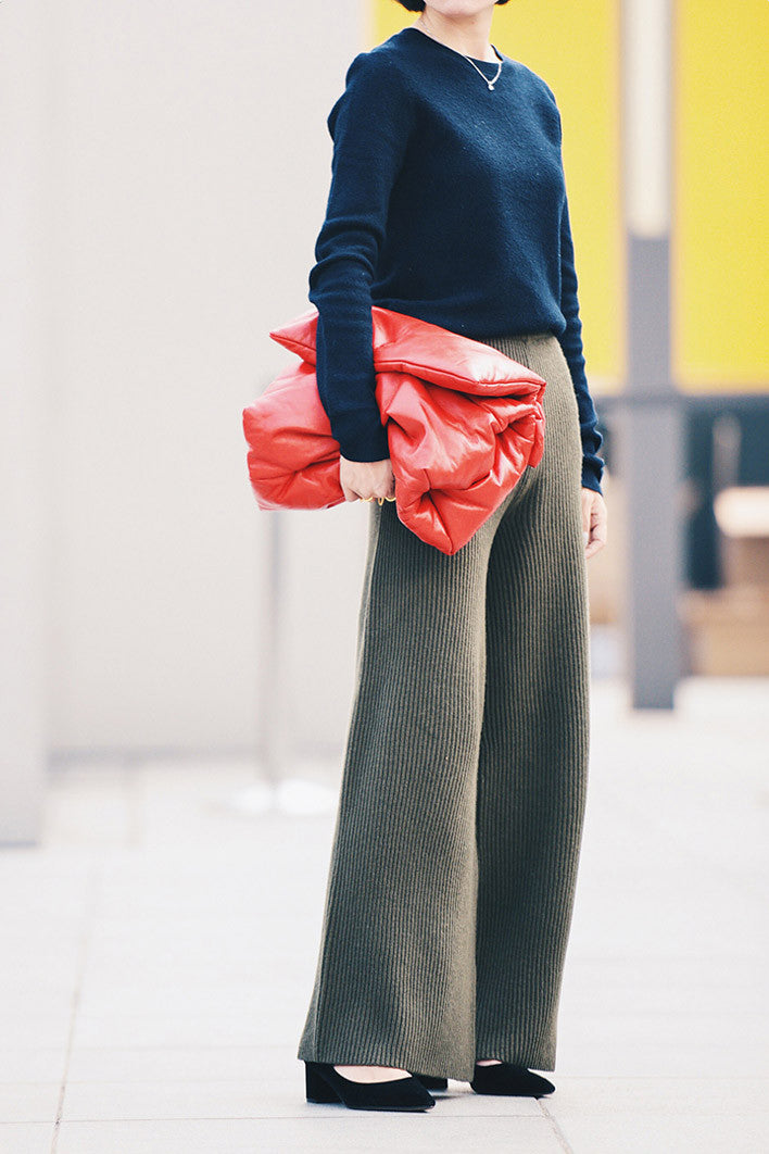 Merino Wool High Waist Pants