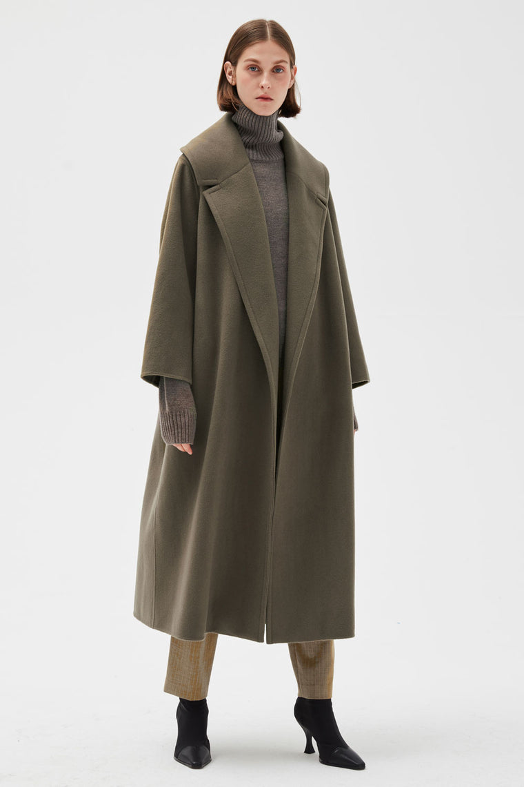 Oversized Thick Wool Coat