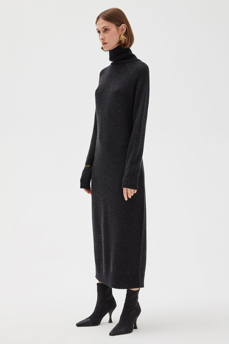 Long Knit Wool Dress