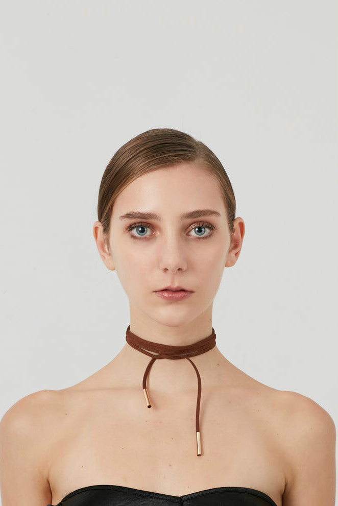 Faux Suede Choker Necklace