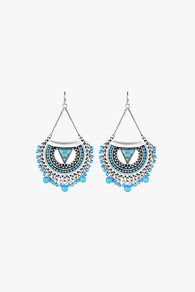 Turquoise Beads Drop Earrings