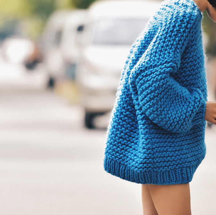 Knitted Round Neck Wool Sweater