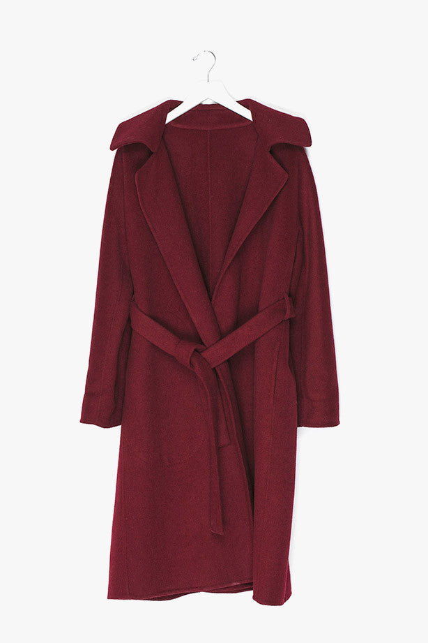 Wrap Wool Coat