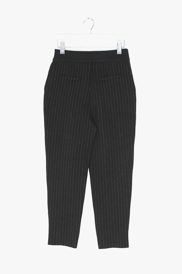 Striped Wool Knit Stretch Pants