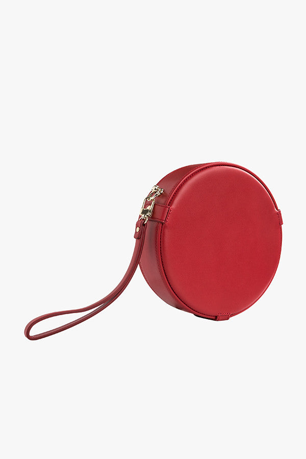Round Mini Leather Handbag