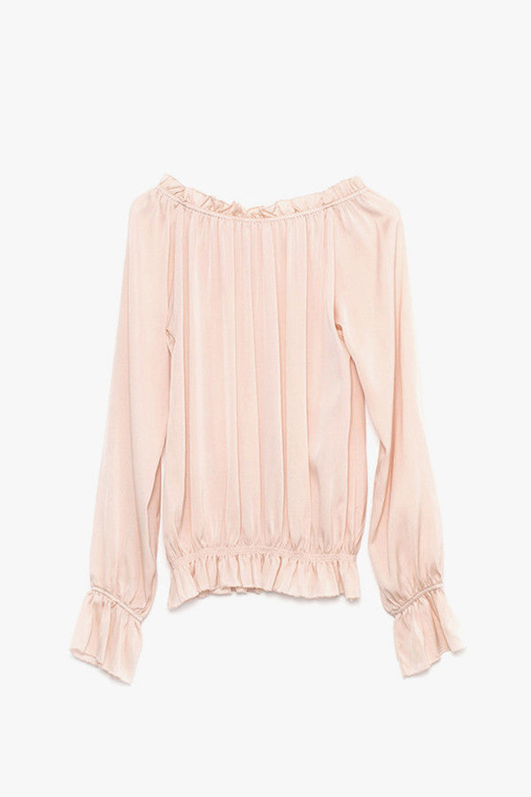 Silk Ruffled Shirt