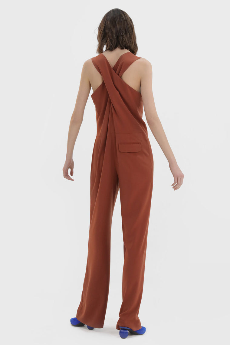 Cross Back Jumpsuit