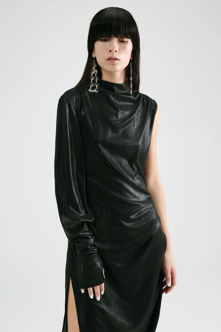 Textured Asymmetric Dress