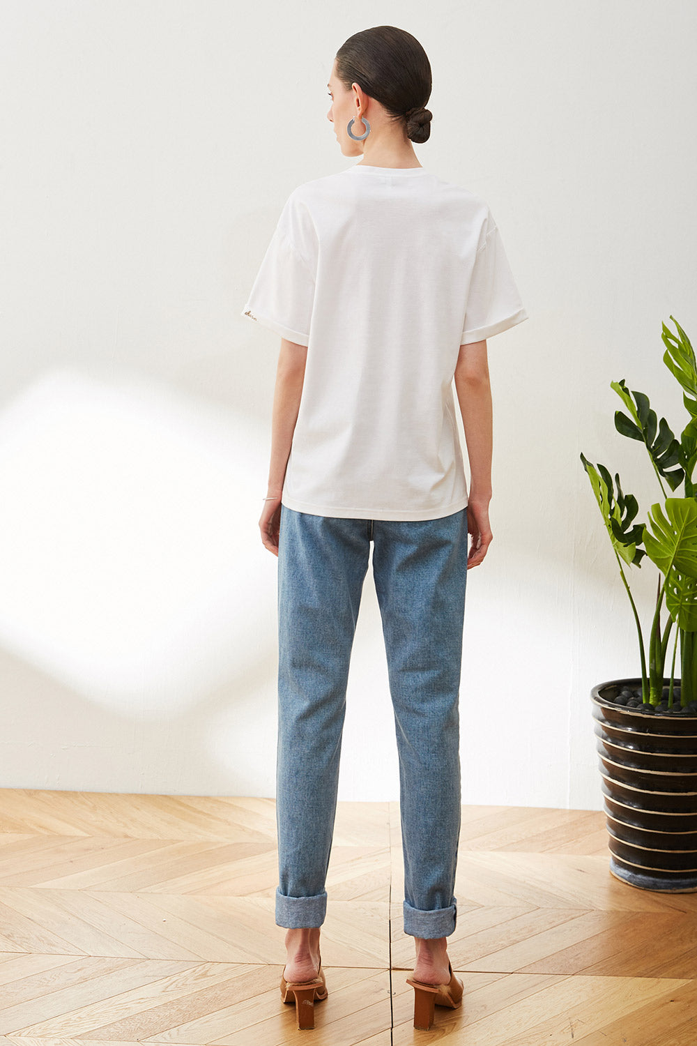 Relaxed Fit Straight Leg Jeans