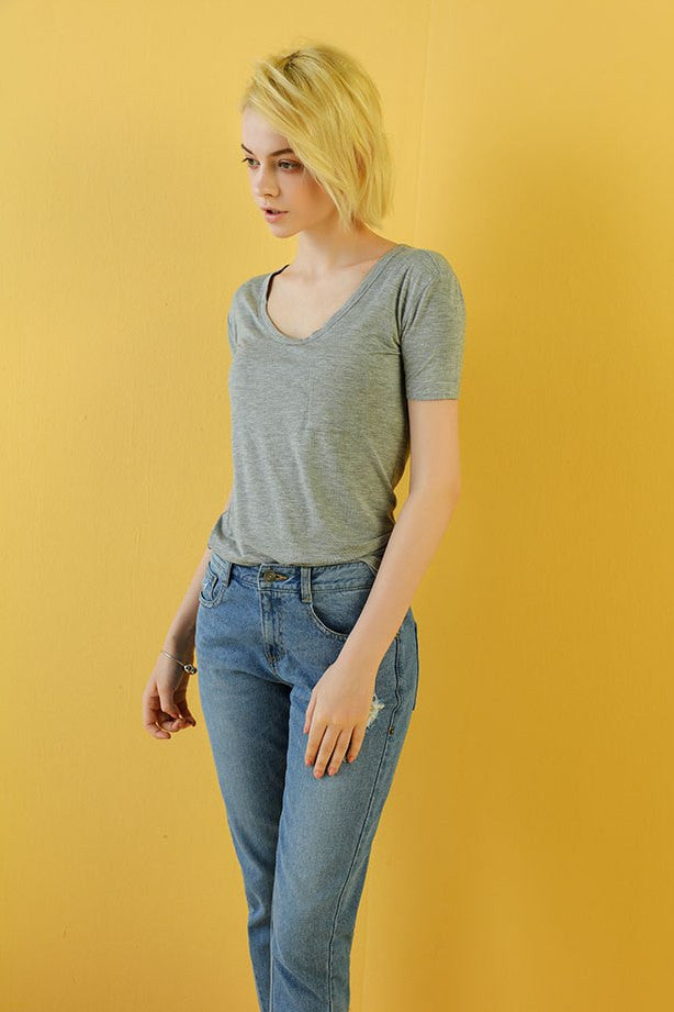 Casual Loose Crop Top