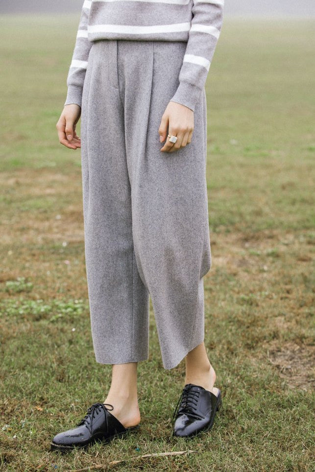 Wool Crop Pants