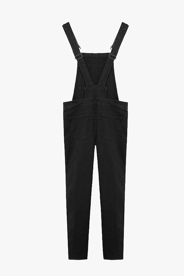 Black Skinny Denim Overall