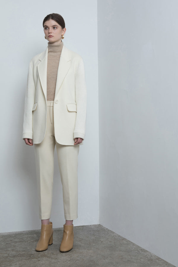 Tailored Ribbed Wool Jacket