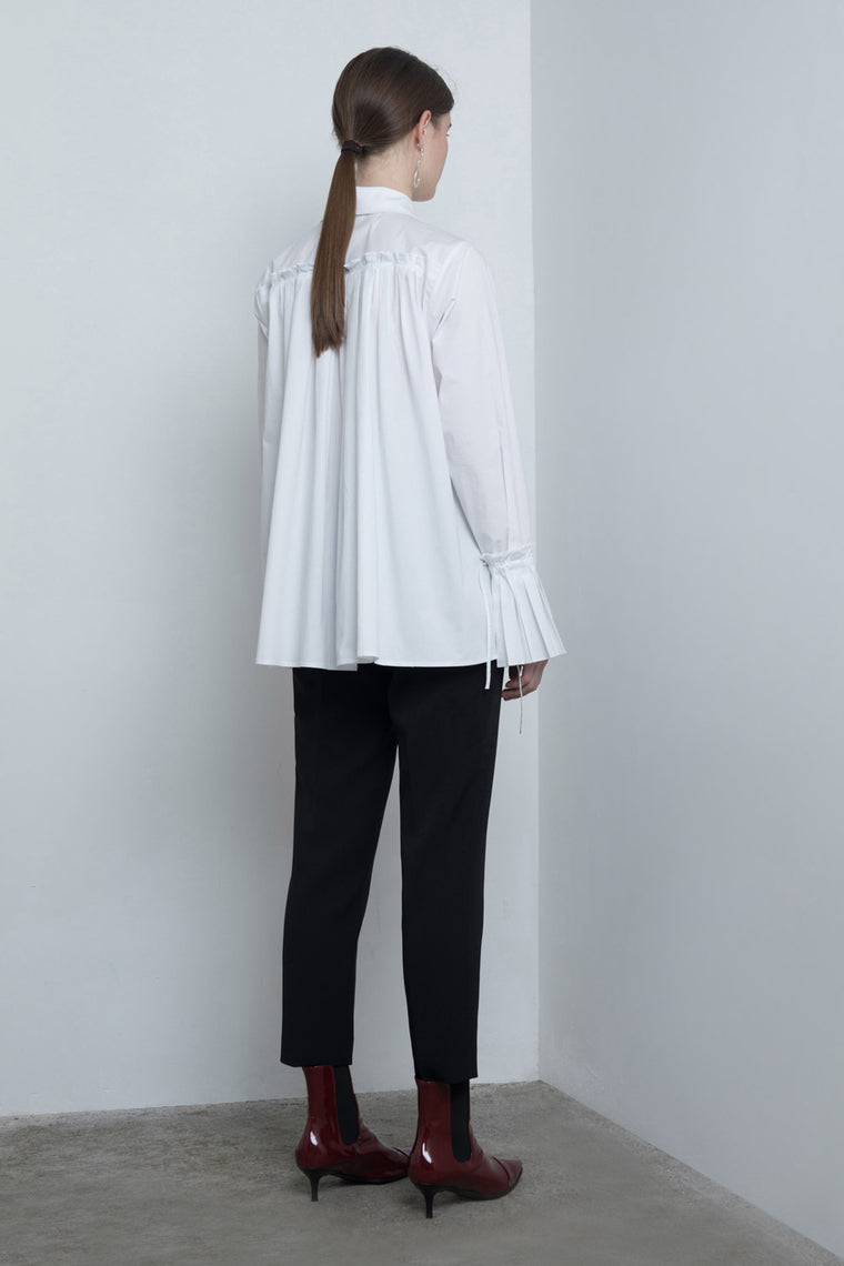Pleated Bell Sleeved Shirt