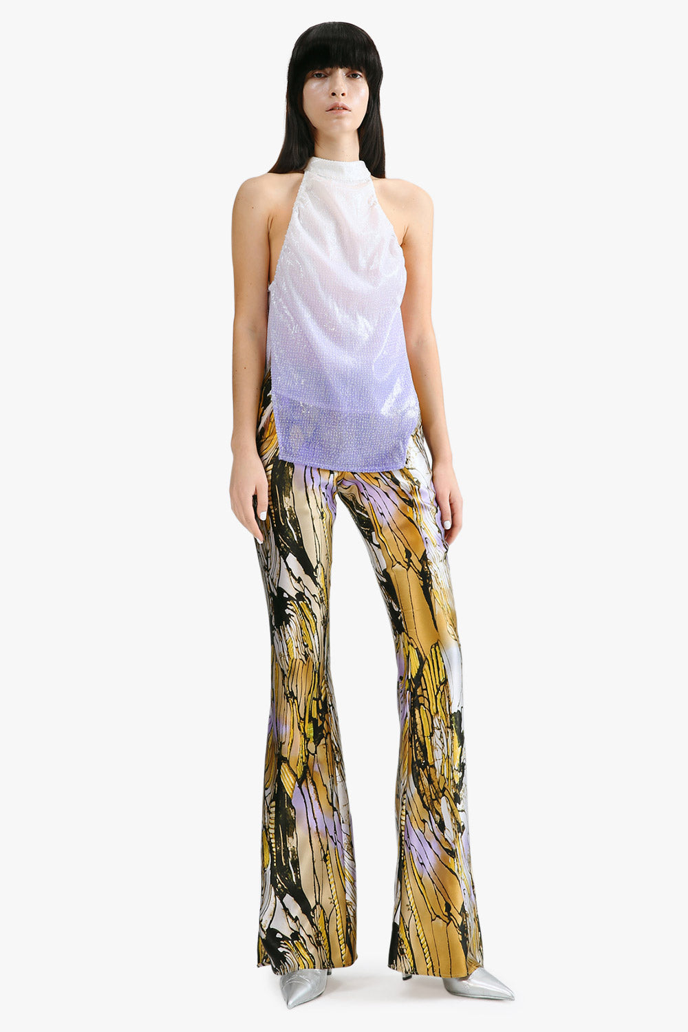 Mulberry Silk Bell Bottom Pants