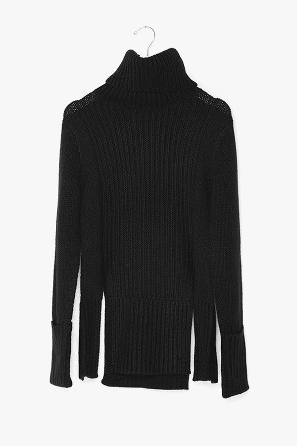 Long Sleeved High Side Slits Sweater