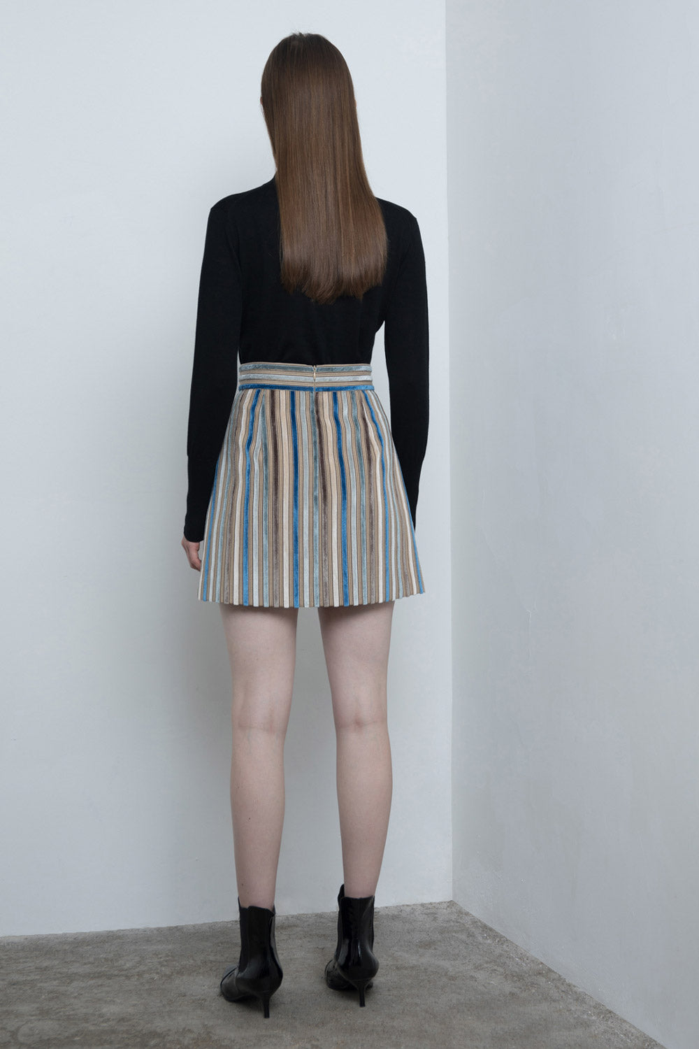 Striped Velvet Skirt