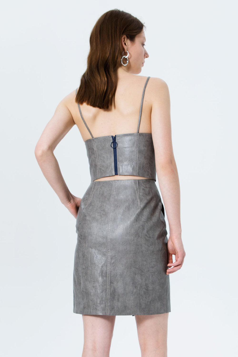 Embossed Asymmetrical Skirt