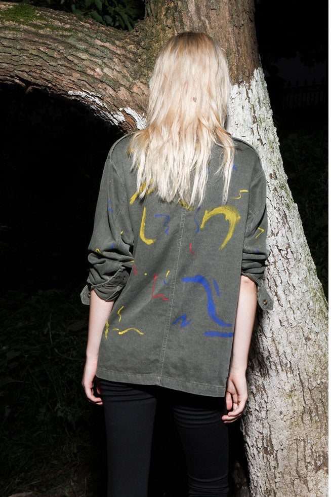Paint It Army Jacket