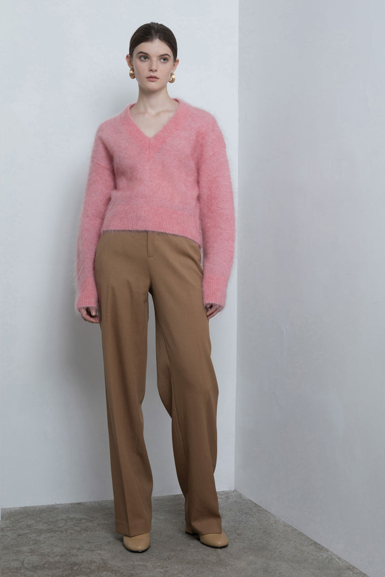 Wide-Leg Wool Pants