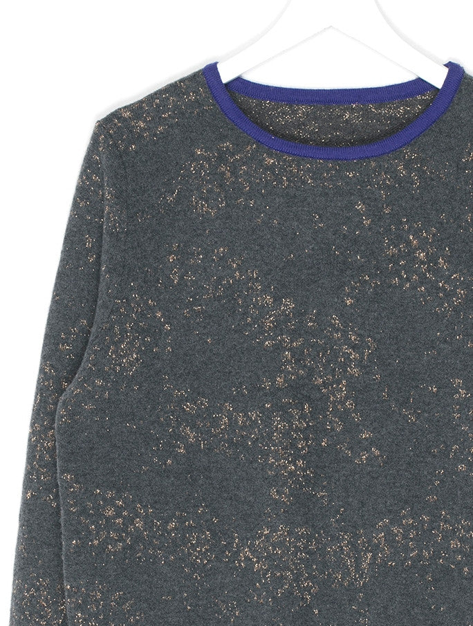 Gold Thread Cashmere Knit Sweater
