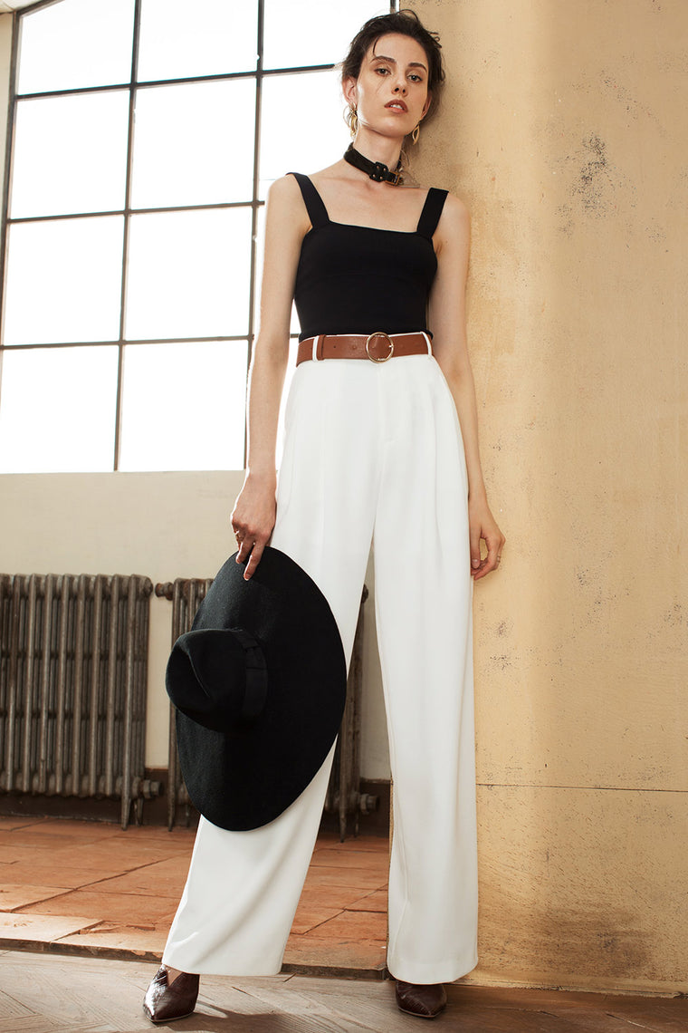 Wide Leg High Waisted Pants