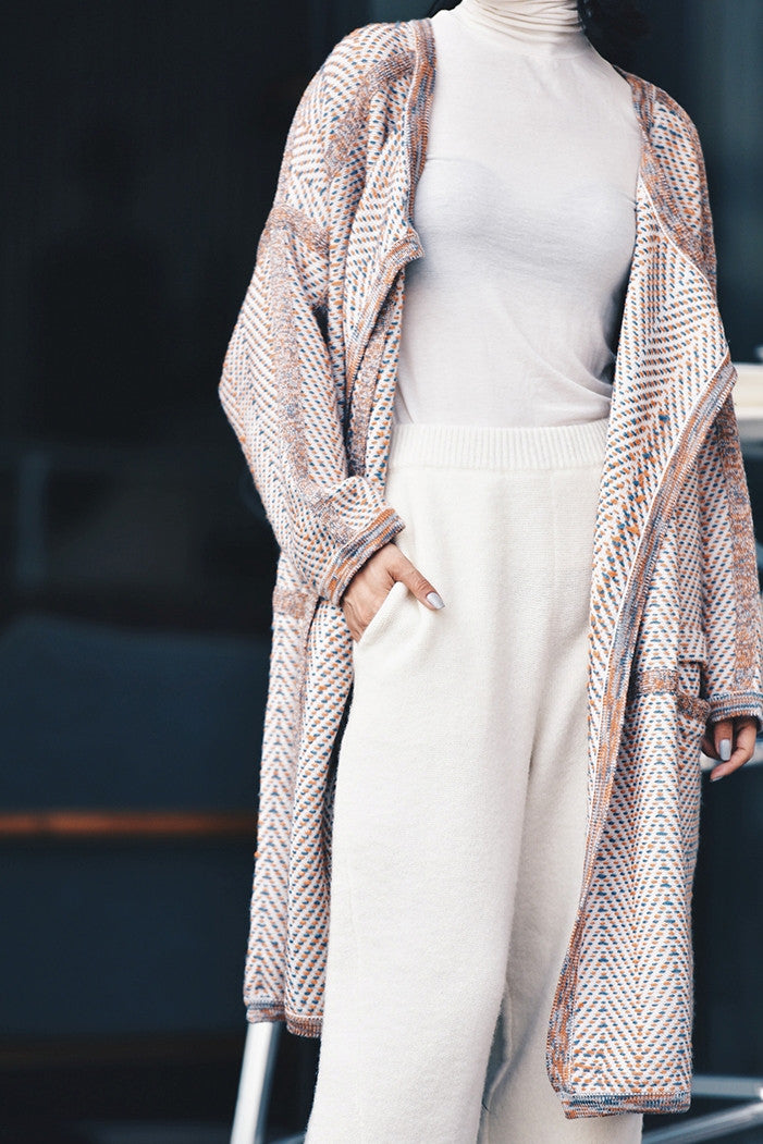 Knit Wrap Open Cardigan