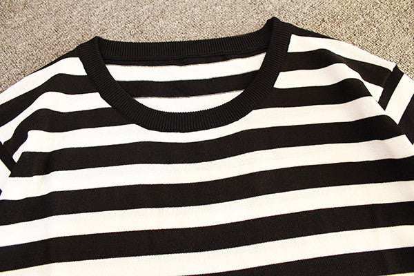 Striped Knit Loose Top