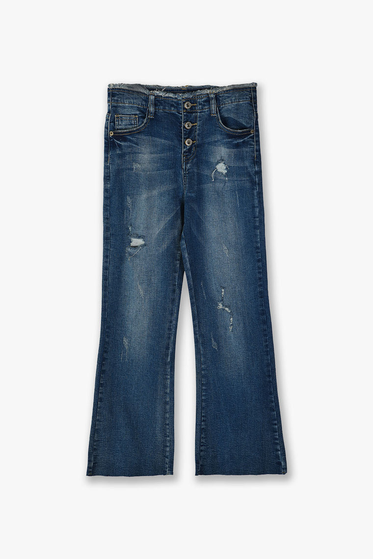 Bell Bottom Crop Fit Jeans